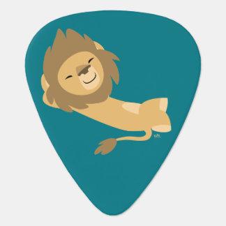 Siesta! Cute Cartoon Lion Guitar Pick