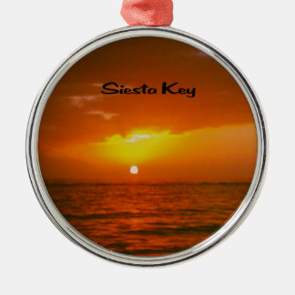 Siesta Key  Beach Metal Ornament