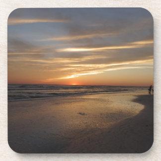 Siesta Key Beach Sunset Beverage Coasters