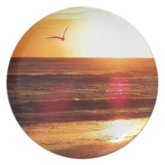 Siesta Key Beach Sunset Plate