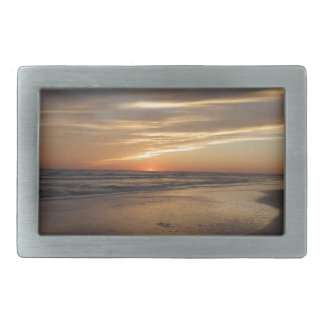 Siesta Key Beach Sunset Rectangular Belt Buckles