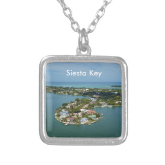 Siesta Key, Florida Silver Plated Necklace