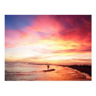 Siesta Key Florida, Summer Night, Sunset Postcard