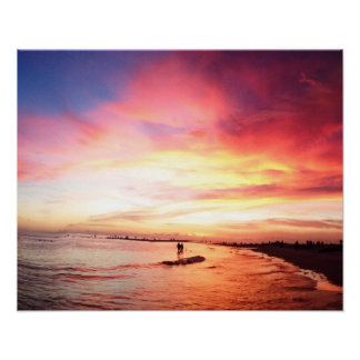 Siesta Key Florida, Summer Night, Sunset Poster