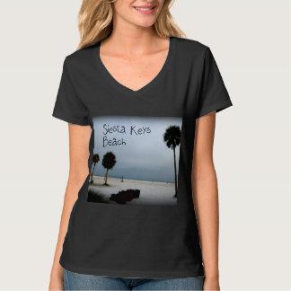 Siesta Keys Beach with Dark Vignette Surround T-Shirt
