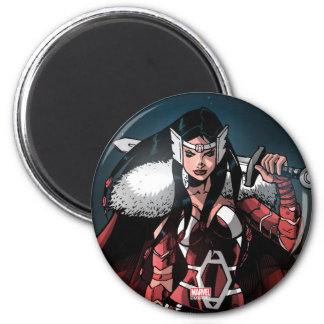 Sif In Moonlight 2 Inch Round Magnet