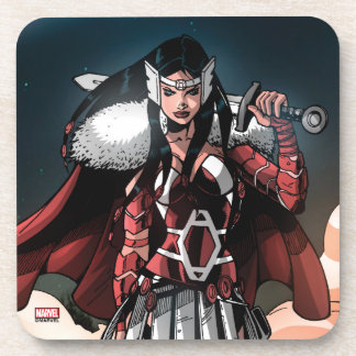Sif In Moonlight Beverage Coasters