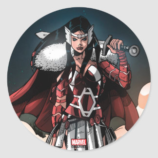 Sif In Moonlight Classic Round Sticker