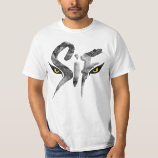 Sif, the Great Grey Wolf Typography T-Shirt