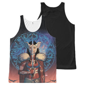Sif With Sword All-Over-Print Tank Top