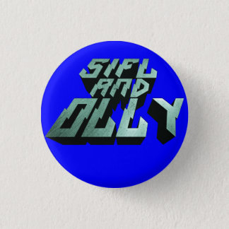Sifl and Olly Metal Logo Button(Blue) 1 Inch Round Button