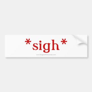 Sigh: bumper sticker (white)