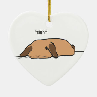 SIGHING LOP CERAMIC ORNAMENT