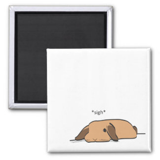 SIGHING LOP SQUARE MAGNET