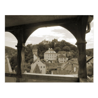 Sighisoara, iview of the city postcard