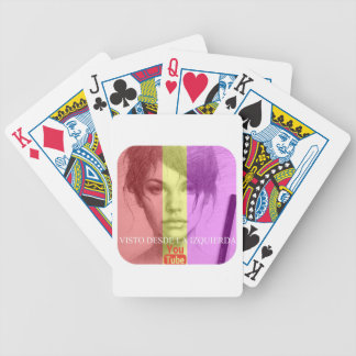 Sight from the left bicycle playing cards