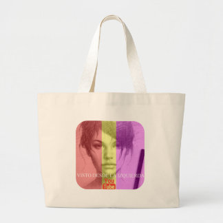 Sight from the left large tote bag