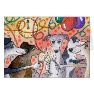 Sighthounds are the original party animals... card