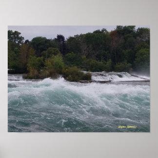 Sightseeing at Niagara Falls Poster