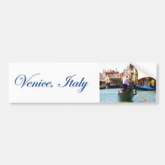 Sightseeing By Gondola Venice Italy Bumper Sticker
