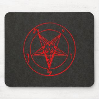 Sigil of Baphomet (Black Parchment Background) Mouse Pad