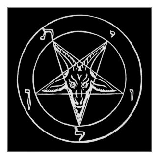 Sigil of Baphomet Church of Satan Poster