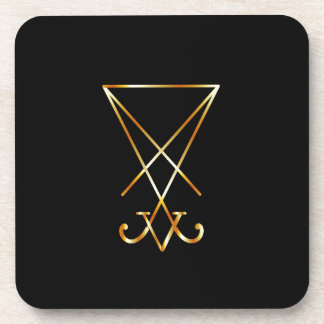Sigil of Lucifer- A symbol of satanism Coaster