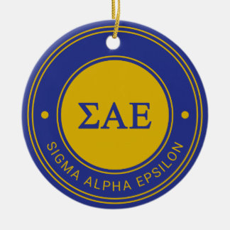 Sigma Alpha Epsilon | Badge Ceramic Ornament
