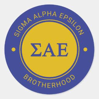 Sigma Alpha Epsilon | Badge Classic Round Sticker