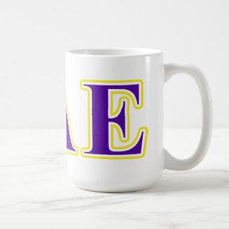 Sigma Alpha Epsilon Purple and Yellow Letters Coffee Mug