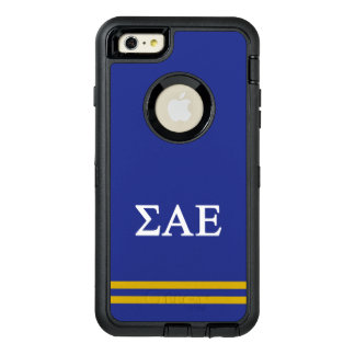 Sigma Alpha Epsilon | Sport Stripe OtterBox Defender iPhone Case