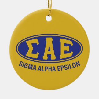 Sigma Alpha Epsilon   Vintage Ceramic Ornament