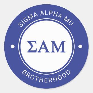 Sigma Alpha Mu | Badge Classic Round Sticker