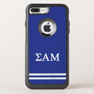 Sigma Alpha Mu | Sport Stripe OtterBox Commuter iPhone 8 Plus/7 Plus Case