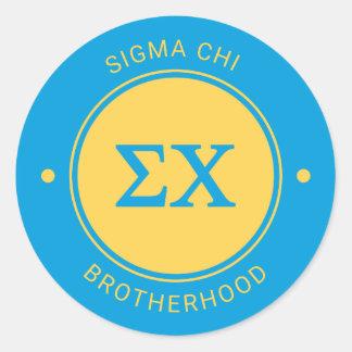 Sigma Chi | Badge Round Sticker