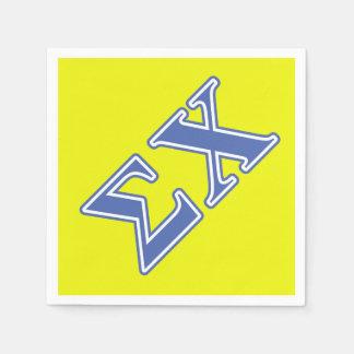 Sigma Chi Blue Letters Disposable Napkins