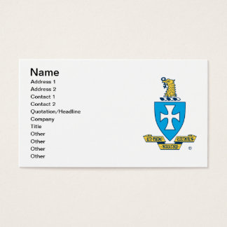 Sigma Chi Crest Logo Business Card