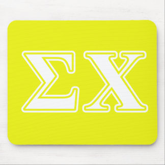 Sigma Chi White and Yellow Letters Mouse Pad