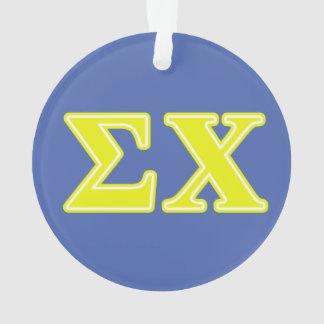 Sigma Chi Yellow Letters Ornament