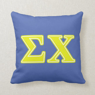 Sigma Chi Yellow Letters Throw Pillow