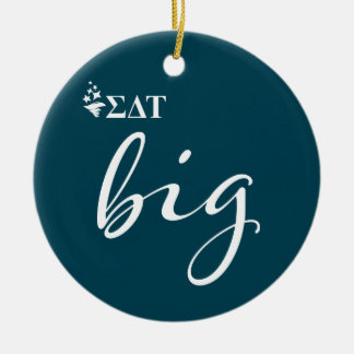 Sigma Delta Tau | Big Script Ceramic Ornament