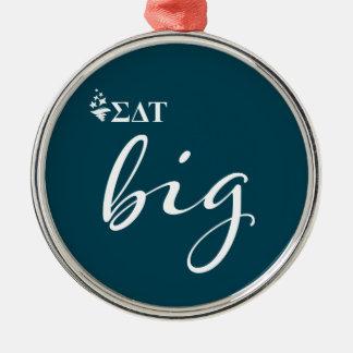 Sigma Delta Tau | Big Script Metal Ornament