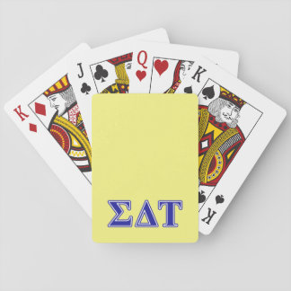 Sigma Delta Tau Blue Letters Playing Cards