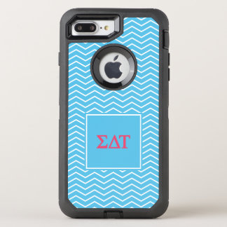 Sigma Delta Tau | Chevron Pattern OtterBox Defender iPhone 8 Plus/7 Plus Case