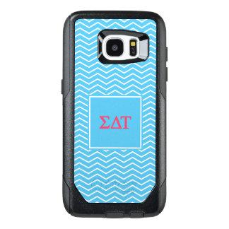 Sigma Delta Tau | Chevron Pattern OtterBox Samsung Galaxy S7 Edge Case