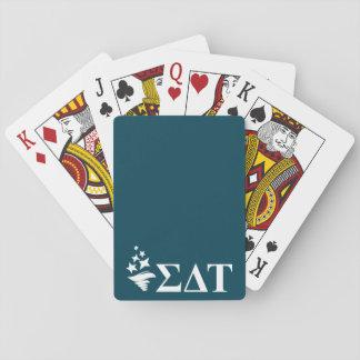 Sigma Delta Tau   Lil Big Logo Playing Cards