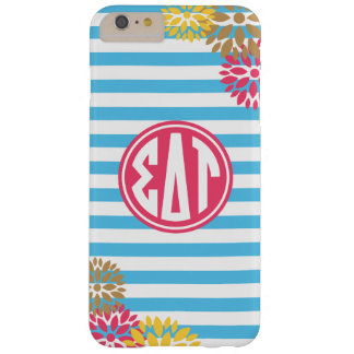 Sigma Delta Tau | Monogram Stripe Pattern Barely There iPhone 6 Plus Case