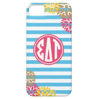 Sigma Delta Tau | Monogram Stripe Pattern iPhone 5 Cover