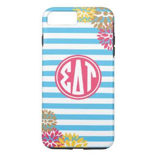 Sigma Delta Tau | Monogram Stripe Pattern iPhone 8 Plus/7 Plus Case