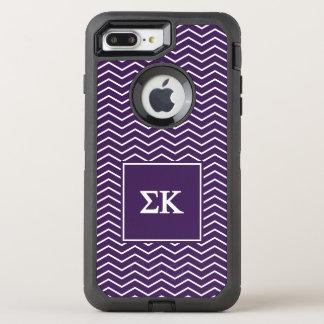 Sigma Kappa | Chevron Pattern OtterBox Defender iPhone 7 Plus Case